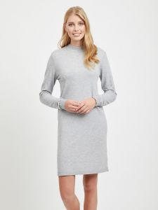 object-naisten-mekko-thess-ls-knit-dress-vaaleanharmaa-1