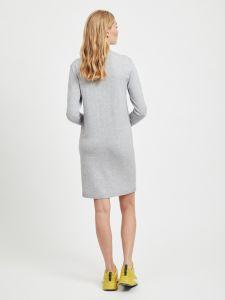 object-naisten-mekko-thess-ls-knit-dress-vaaleanharmaa-2