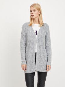 object-naisten-neuletakki-nonsia-rib-ls-knit-cardigan-vaaleanharmaa-1