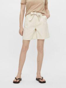 object-naisten-shortsit-objaubrey-twill-shorts-vaalea-beige-1