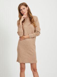 object-neulemekko-objthess-knit-dress-kameli-1