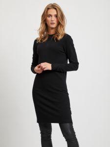 object-neulemekko-objthess-knit-dress-musta-1