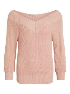 object-neulepusero-objlandaz-ls-knit-pullover-vaaleanpunainen-1