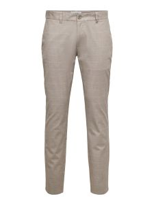 only-and-sons-miesten-housut-mark-life-tap-pant-ruskea-ruutu-1