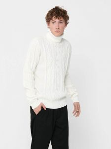 only-and-sons-miesten-neulepaita-rigge-cable-roll-neck-luonnonvalkoinen-1