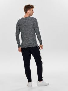 only-and-sons-neule-wictor-structure-crew-neck-sininen-kuosi-2