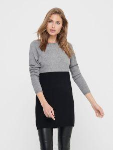only-naisten-mekko-onllily-l-s-dress-knt-raidallinen-musta-1