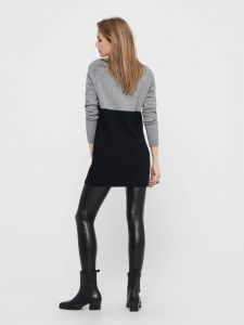 only-naisten-mekko-onllily-l-s-dress-knt-raidallinen-musta-2