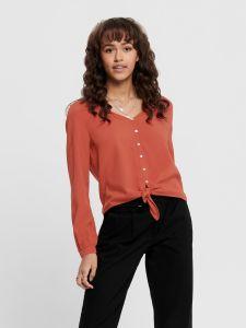 only-naisten-pusero-nancy-ls-tie-shirt-poltettu-oranssi-1