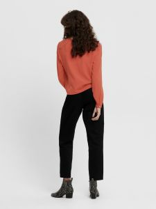only-naisten-pusero-nancy-ls-tie-shirt-poltettu-oranssi-2