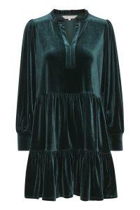 part-two-naisten-mekko-viggase-samettimekko-tummanvihrea-2