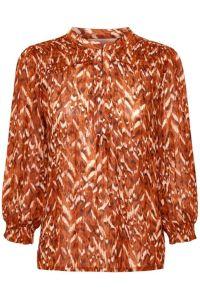 part-two-naisten-paita-dide-blouse-oranssi-kuosi-1