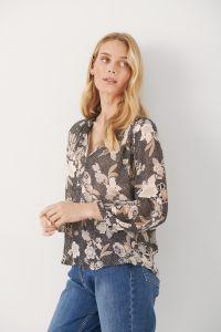 part-two-naisten-paita-erdonae-blouse-ruskea-kuosi-1