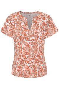 part-two-naisten-t-paita-gesina-t-shirt-oranssi-kuosi-1