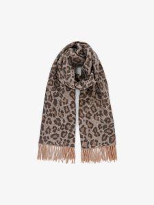 pieces-huivi-jira-wool-scarf-ruskea-kuosi-1