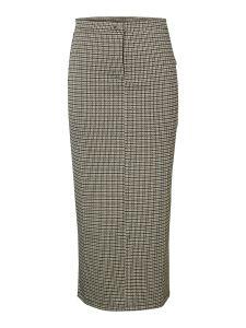 pieces-naisten-hame-huberta-pencil-skirt-ruskea-ruutu-1