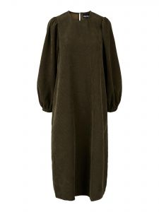 pieces-naisten-mekko-perle-3-4-midi-dress-d2d-armeijanvihrea-1