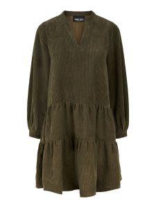 pieces-naisten-mekko-perle-ls-v-neck-dress-d2d-armeijanvihrea-1