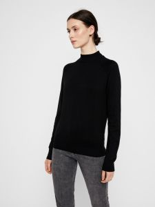 pieces-naisten-pooloneule-estera-ls-high-neck-knit-musta-2