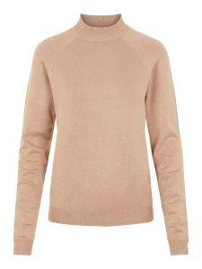 pieces-naisten-pooloneule-estera-ls-high-neck-knit-vaalea-beige-1