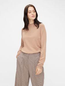 pieces-naisten-pooloneule-estera-ls-high-neck-knit-vaalea-beige-2