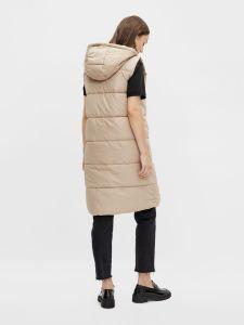 pieces-naisten-toppaliivi-pcbee-new-long-puffer-vest-vaalea-beige-2