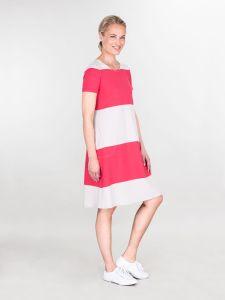ritva-falla-naisten-trikoomekko-elena-raidallinen-punainen-1