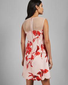 Ted Baker Naisten Mekko, Jaazmin Dress Vaaleanpunainen Kuosi