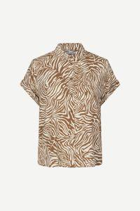 samsoe-and-samsoe-naisten-lyhythihainen-kauluspaita-majan-ss-shirt-9942-ruskea-kuosi-1