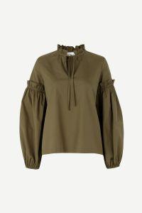 samsoe-and-samsoe-naisten-paita-maia-shirt-armeijanvihrea-1