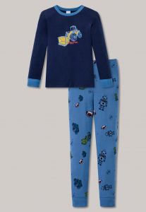 schiesser-lasten-pyjama-kids-poikien-pyjama-kaivuri-sininen-kuosi-1