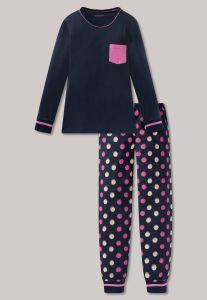 schiesser-lasten-pyjama-sininen-kuosi-1