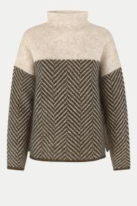 second-female-naisten-neule-herrin-knit-t-neck-ruskea-kuosi-1