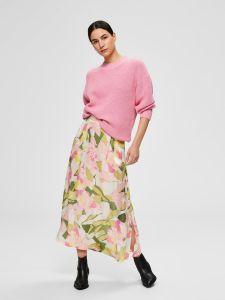 selected-femme-naisten-hame-mola-hw-ankle-skirt-valkopohjainen-kuosi-1