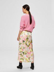 selected-femme-naisten-hame-mola-hw-ankle-skirt-valkopohjainen-kuosi-2