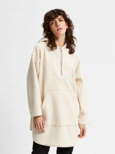 selected-femme-naisten-huppari-cosy-7-8-fleece-hoodie-kerma-1