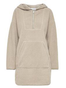 selected-femme-naisten-huppari-cosy-7-8-fleece-hoodie-kerma-2