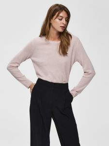 selected-femme-naisten-kashmirneule-aya-ls-knit-cashmere-vaaleanpunainen-1