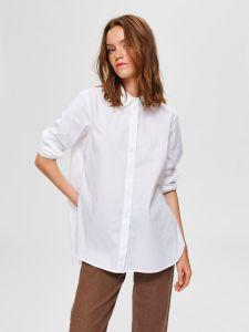 selected-femme-naisten-kauluspaita-slfori-ls-side-zip-shirt-valkoinen-1