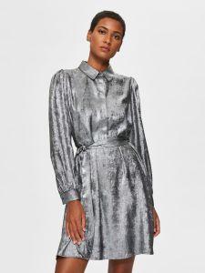 selected-femme-naisten-mekko-aurelia-ls-short-dress-tummanharmaa-1
