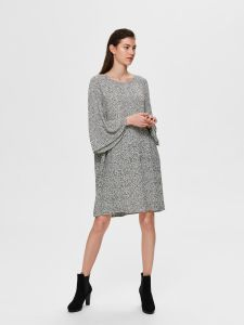 selected-femme-naisten-mekko-slfkinsley-3-4-short-dress-mustavalkoinen-1