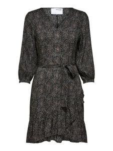 selected-femme-naisten-mekko-slfmabel-3-4-short-dress-musta-1