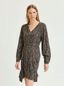 selected-femme-naisten-mekko-slfmabel-3-4-short-dress-musta-2
