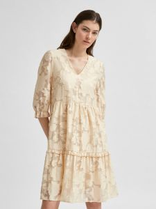 selected-femme-naisten-mekko-slfsadie-3-4-short-dress-vaalea-beige-1