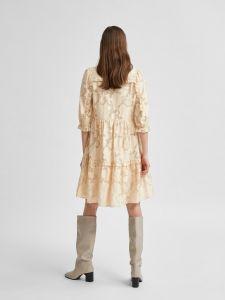 selected-femme-naisten-mekko-slfsadie-3-4-short-dress-vaalea-beige-2