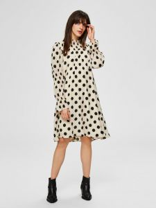selected-femme-naisten-mekko-slfsirene-gracy-ls-short-dress-mustavalkoinen-1