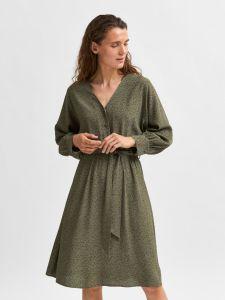 selected-femme-naisten-mekko-slfvienna-7-8-aop-short-dress-vihrea-kuosi-1