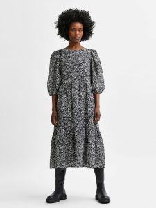 selected-femme-naisten-mekko-slfviole-3-4-midi-aop-dress-musta-kuosi-1