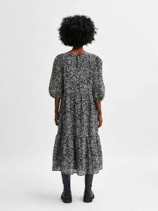 selected-femme-naisten-mekko-slfviole-3-4-midi-aop-dress-musta-kuosi-2