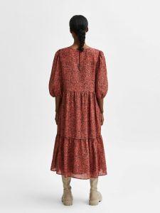 selected-femme-naisten-mekko-slfviole-3-4-midi-aop-dress-oranssi-kuosi-2